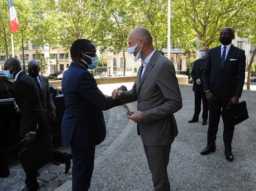 Rencontre de notre Président Thierry BEAUDET et le Président du CESEC de Côte d'Ivoire, Monsieur Eugène AKA AOUÉLÉ
